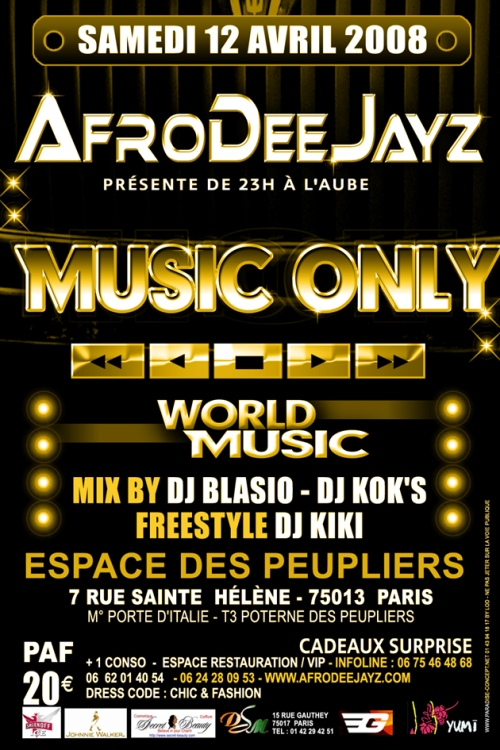 AfroDeeJayz Music Only party